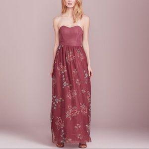 Lauren Conrad Floral Strapless Maxi Dress Sz. 12